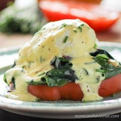 Heirloom Tomato and Swiss Chard Eggs Benedict - a great way to get your healthy veggies in the morning. The blender hollandaise is so easy. Eat your greens!