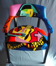 """""""After Picasso…The Musician"""" Chair by The Blue Door Studio"""