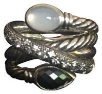 David Yurman David Yurman Confetti Ring with Hematine Moon Quartz and Diamonds