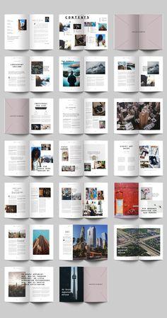 Urban Magazine by KrumfohGralne on Brochure Mockup, Brochure Layout, Corporate Brochure, Brochure Template, Design Brochure, Booklet Layout, Layout Book, Text Layout, Print Layout