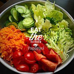 Lunch today!!! So filled with wholesome goodness #salad #saladjam #veggies #vegan #rawvegan #produce #eatcolor #fullyraw #fruit #paparoxi