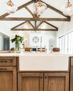View from the kitchen island at our Lafayette project. Photo by @aceandwhim