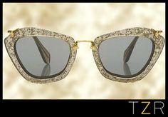 Miu Miu Noir Sunglasses to diiiiie for. One day! $390