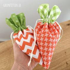 Karotten-Säckchen nähen