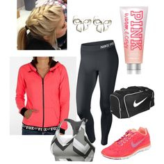 A fashion look from January 2014 featuring Fox sweatshirts, NIKE activewear pants and NIKE sports bras. Browse and shop related looks.