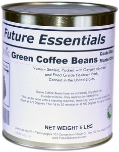 Future Essentials Canned Organic Green Costa Rican Monte Crisol Coffee Beans - #10 CanOnly $37.13*Price subject to change without notice.