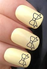 kawaii bow bargain price quality water nail transfers decals stickers tattoos!
