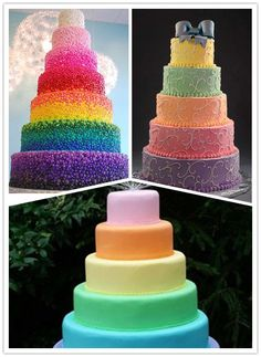 Rainbow Bright Cake for Wedding tips