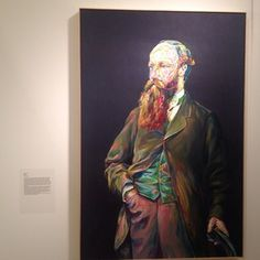 Aaron Smith's painting as shot by John Wesley..