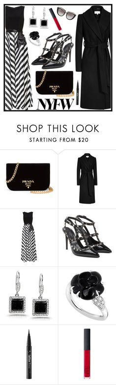 """""""Pack for NYFW"""" by tlb0318 ❤ liked on Polyvore featuring Prada, Gina Bacconi, Valentino, Kobelli, Chanel, Kat Von D, NARS Cosmetics and Anna-Karin Karlsson"""