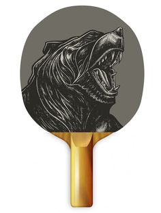 Uberpong bear ping pong table tennis paddle