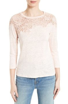 Rebecca Taylor Rebecca Taylor Arella Linen Jersey Tee available at #Nordstrom