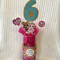 ABOUT LISTING: This listing is for a custom made L. These super cute centerpieces can also be used for de Birthday Party Treats, Birthday Party Centerpieces, Birthday Parties, Birthday Ideas, Surprise Birthday, Party Favors, Josi, Doll Party, Lol Dolls