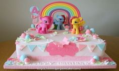 My Little Pony Cake - For all your cake decorating supplies, please visit craftc. Bolo My Little Pony, Cumple My Little Pony, My Little Pony Cupcakes, Festa Rainbow Dash, Cake Rainbow, Anniversaire My Little Pony, Foto Pastel, My Little Pony Birthday Party, 4th Birthday Cakes