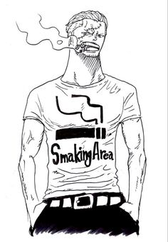 "I really dislike the Marines but he is an exception. There was a poll somewhere a few days ago, where people were asked to define Smoker with one word. I say it should be ""justice"" because that's just what Smoker stands for. I can't wait for him to appear in the manga again, he is such a nice character."
