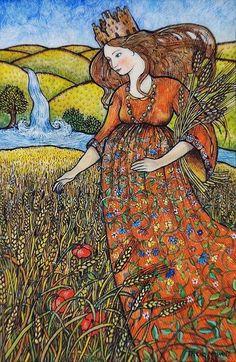 Carta del día: La emperatriz, esta carta está llena de fertilidad y de atribuciones femeninas! Nos recuerda que tenemos todo lo que necesitamos para sembrar nuestras semillas y ver florecer nuestros sueños!!