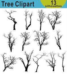 Forest Silhouette, Silhouette Png, Silhouette Painting, Tree Pencil Sketch, Tree Sketches, Bush Drawing, Small Canvas Paintings, Tree Clipart, Twisted Tree