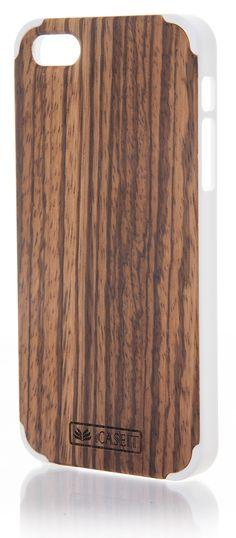iCASEIT Wood iPhone Case - Genuinely Natural, Unique & Premium quality for iPhone 5 / 5S - Zebrawood / White: Amazon.co.uk: Electronics