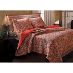 Persian Multicolored Cotton 3-piece Quilt Set - Overstock™ Shopping - Great Deals on Quilts
