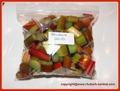 Are you planning on FREEZING RHUBARB? Here is How to Freeze Rhubarb with Step by Step PHOTOS, including freezing without sugar and NO blanching rhubarb before freezing. Freezing Vegetables, Freezing Fruit, Rhubarb Freezing, Can You Freeze Rhubarb, Freezer Cooking, Freezer Meals, Freezer Recipes, Amish Recipes, Apple Recipes
