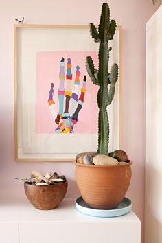 Love the artwork by Maurice Gollota Madeleine & Karl's Colorful and Creative Family Home