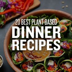 Looking to up your dinner game? Here are our 20 Best Plant-Based Dinner Recipes for you to add to your meal plans for the weeks ahead! All of them either require 10 ingredients or less, 1 bowl, or 30 minutes or less to prepare!