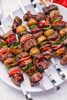 you ready for Summer? These super juicy and delicious Beef Shish Kabobs are . Are you ready for Summer? These super juicy and delicious Beef Shish Kabobs are ., Are you ready for Summer? These super juicy and delicious Beef Shish Kabobs are . Grilling Recipes, Beef Recipes, Cooking Recipes, Healthy Recipes, Skewer Recipes, Vegetarian Grilling, Cooking Ribs, Cooking Cake, Healthy Grilling