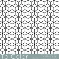 this is a printable pdf coloring page from to color featuring an all over repeating geometric coloring pages for adultscoloring book
