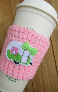 Check out this item in my Etsy shop https://www.etsy.com/listing/287523793/camper-rv-crochet-coffee-cozy-preppy