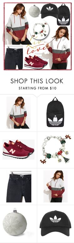 """""""Untitled #84"""" by alma77 ❤ liked on Polyvore featuring beauty, Topshop, New Balance, RE/DONE and Lands' End"""