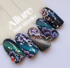 let's take a look at the 80 Awesome Acrylic Almond Nails Designs we have collected for you. They are very useful for almond nails. Manicure Nail Designs, Almond Nails Designs, Acrylic Nail Designs, Nail Art Designs, Acrylic Nails, Nail Art Wheel, Nails & Co, Mandala Nails, One Stroke Nails