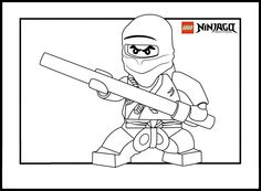 Lego Ninja Go Coloring Pages 13