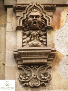A detail of a Baroque Palace in Modica, Sicily - ITALY