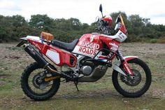 Adventure Monday! Highly modded Transalp Honda XRV750R | Motorcycle Photo Of The Day