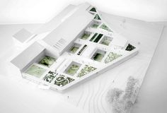 Image 7 of 26 from gallery of Future Town Hall of Tønder Competition Entry / WE Architecture. Photograph by WE Architecture Architecture Design, Landscape Architecture Model, Concept Architecture, Architecture Panel, Architecture Diagrams, Architecture Graphics, Architecture Portfolio, School Architecture, Design Despace