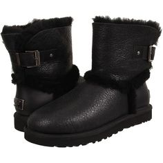 UGG Airehart Women's Boots, Black ($156) ❤ liked on Polyvore featuring shoes, boots, black, slipon shoes, synthetic shoes, pull on boots, kohl shoes and slip on boots