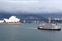 Storm clouds roll in over Sydney Harbour, December 2014. David Spicer.