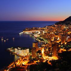 Monaco at night.