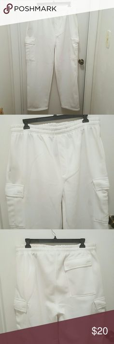 Men's White Cargo Sweat Pants NWOT White Cargo Sweat Pants Pants Sweatpants & Joggers
