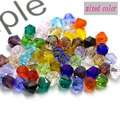 100pcs 4*6mm Peacock green AB Facettes Gems loose beads Perles Cristal
