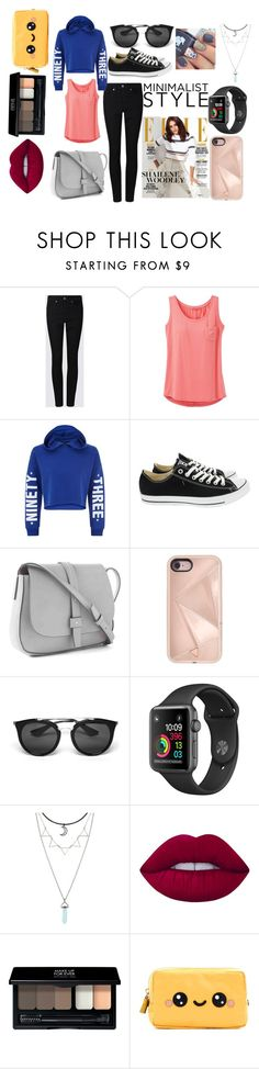 """""""Friday Night Football Game"""" by lamibotkin on Polyvore featuring prAna, New Look, Converse, Gap, Rebecca Minkoff, Prada, Lime Crime, MAKE UP FOR EVER and Anya Hindmarch"""