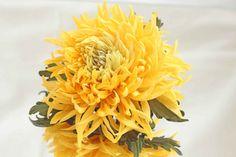 Fabric Flower Yellow Chrysanthemum: Brooch, Bracelet, Lace Flower,Wedding accessories,Clips