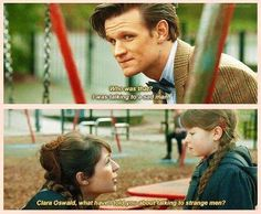 Clara's first chat with The Doctor