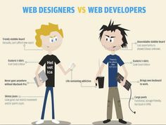 Web designer vs web developers
