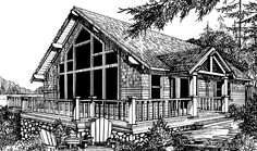 Eplans Chalet House Plan - Two Bedroom Chalet - 1539 Square Feet and 2 Bedrooms from Eplans - House Plan Code HWEPL70381