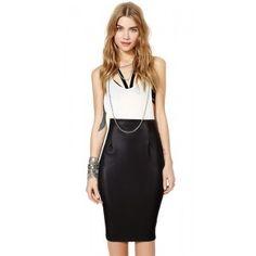 Falda polipiel negra. Me encantq la blusa