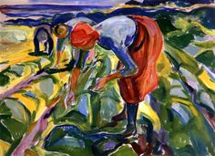 Field Work Edvard Munch - 1917