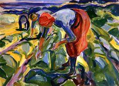 Field Work Edvard Munch - 1917