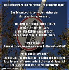 Ein Österreicher und ein Schweizer sind befreundet
