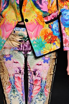 totally 'must have' - I adore heavily patterned pants... & the jacket is something else...